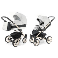 Коляска 2 в 1 Esspero Grand Tour White leatherette (шасси beige GT)