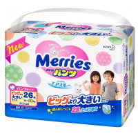 Трусики Merries SuperBig 15-28 кг 26 шт