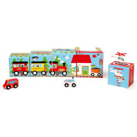 Кубики Scratch Stacking Tower Cars and helicopter (6181088)