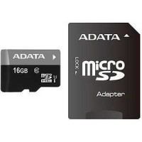 Карта памяти A-Data microSDHC Class 10 64GB + SD adapter