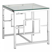 Журнальный столик Stool Group Бруклин EET-013 серебро