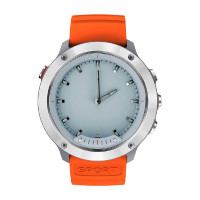 Умные часы Geozon Hybrid Silver Black/orange strap