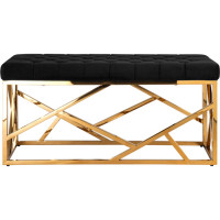 Банкетка-скамейка Stool Group АРТ ДЕКО BENCH-016-TG черный/золото