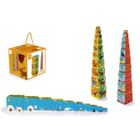 Кубики Scratch Europe Stacking Tower Animals of the world 6181034