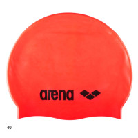 Шапочка для плавания Arena Classic Silicone Cap (fluo red/black) 91662 40