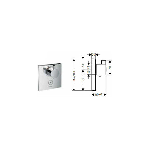 Смеситель Hansgrohe ShowerSelect Highfow 15761000