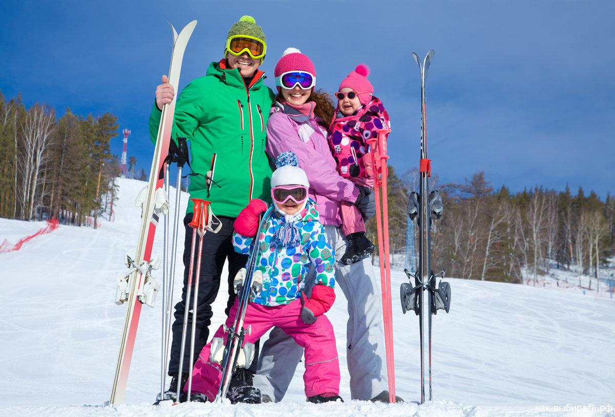 беговые лыжи для всей семьи