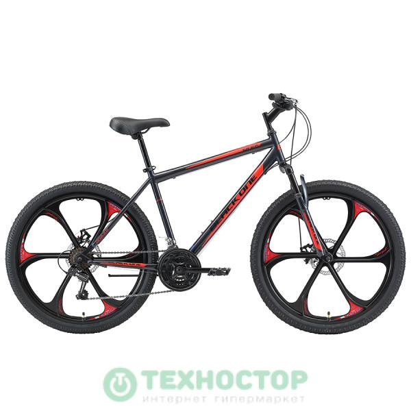Велосипед Black One Onix 26 D (2020-2021) FW 20 (HD00000410) серый/черный/красный