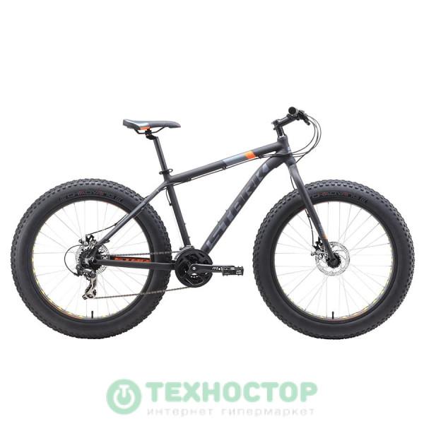 Велосипед Stark 2019 Fat 26.2 D чёрный/оранжевый/серый 18 (H000013800)